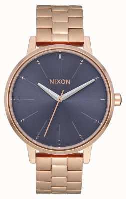 Nixon Kensington | rose goud / storm | roségouden ip-armband | blauwe wijzerplaat A099-3005-00
