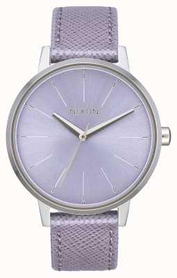 Nixon Kensington leer | lavendel | lavendel lederen band | lavendel wijzerplaat A108-236-00