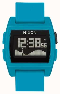 Nixon Basistij   blauwe hars   digitaal   blauwe siliconen band A1104-2556-00