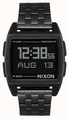 Nixon Basis | helemaal zwart | digitaal | zwarte ip stalen armband | A1107-001-00