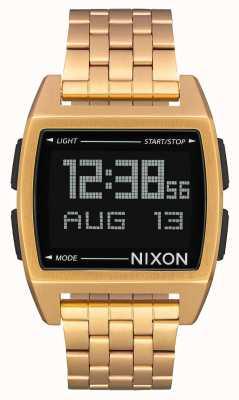 Nixon Basis | alle goud | digitaal | gouden ip stalen armband A1107-502-00