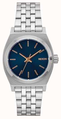 Nixon Teller op middellange termijn   marine / roségoud   roestvrijstalen armband   marine wijzerplaat A1130-2195-00