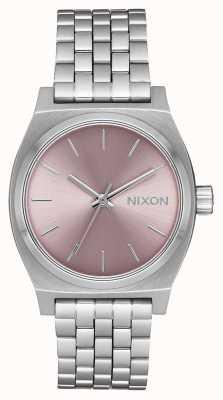 Nixon Teller op middellange termijn   zilver / bleke lavendel   roestvrijstalen armband   A1130-2878-00