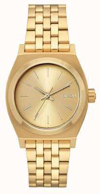 Nixon Teller op middellange termijn   alle goud   gouden ip stalen armband   gouden wijzerplaat A1130-502-00