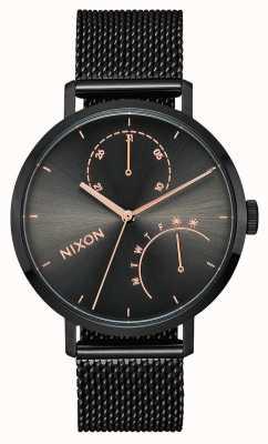 Nixon Koppeling | zwart / gunmetal | zwart ip stalen gaas | zwarte wijzerplaat A1166-1420-00