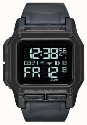 Nixon Regulus | zwarte multicam | digitaal | meerkleurige camo tpu-band A1180-3015-00