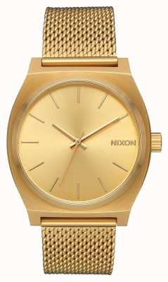 Nixon Time teller Milanese | alle goud | goud ip stalen gaas | gouden wijzerplaat A1187-502-00