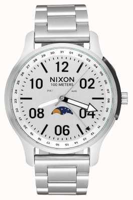 Nixon Ascender | geheel zilver | roestvrijstalen armband | witte wijzerplaat A1208-1920-00