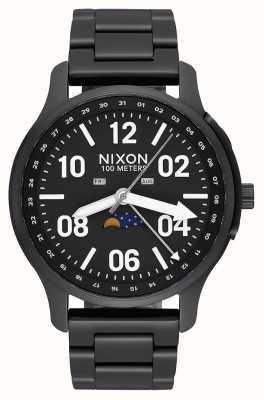 Nixon Ascender | zwart / lum | zwarte ip stalen armband | zwarte wijzerplaat A1208-2474-00