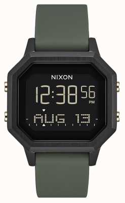 Nixon Sirene ss | zwart / vermoeidheid | digitaal | zwarte siliconen | A1211-178-00