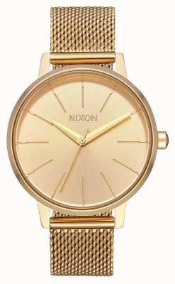 Nixon Kensington Milanese | alle goud | goud ip stalen gaas | gouden wijzerplaat A1229-502-00