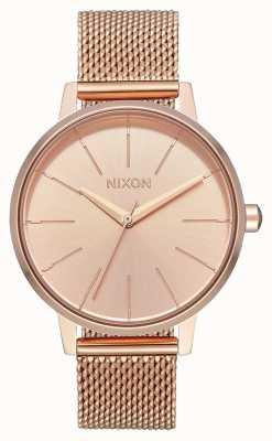 Nixon Kensington Milanese | alle roségoud | rose goud ip mesh | rose gouden wijzerplaat A1229-897-00