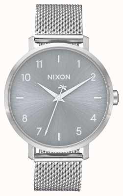 Nixon Arrow Milanese   geheel zilver   roestvrijstalen gaas   zilveren wijzerplaat A1238-1920-00