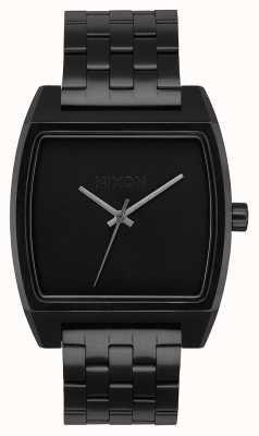 Nixon Tijd tracker | helemaal zwart | zwarte ip stalen armband | zwarte wijzerplaat A1245-001-00