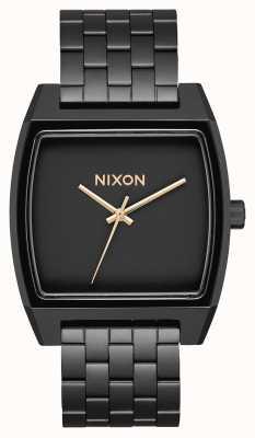 Nixon Tijd tracker | mat zwart / goud | zwarte ip-armband | zwarte wijzerplaat A1245-1041-00