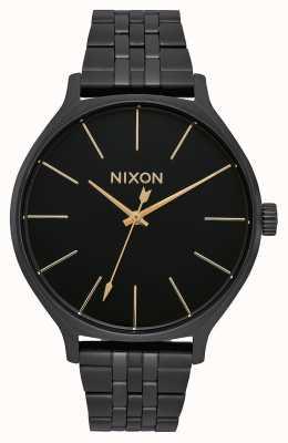Nixon Kliek | helemaal zwart | zwarte ip stalen armband | zwarte wijzerplaat A1249-001-00