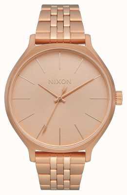 Nixon Kliek | alle roségoud | roségouden ip stalen armband | rose gouden wijzerplaat A1249-897-00