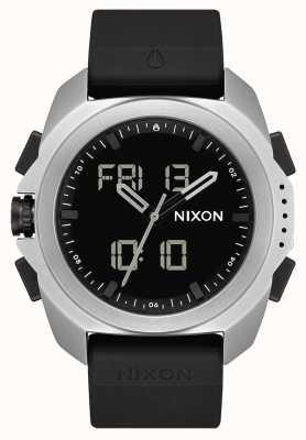 Nixon Ripley | zilver / zwart | digitaal | zwarte tpu-band A1267-625-00