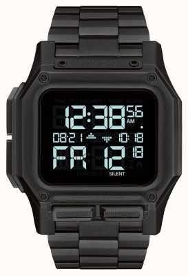 Nixon Regulus ss | helemaal zwart | digitaal | zwarte ip stalen armband A1268-001-00
