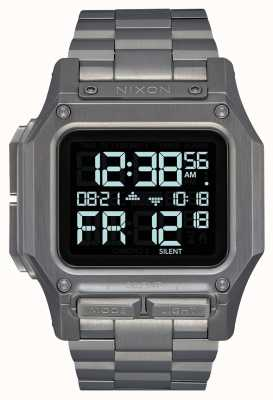 Nixon Regulus ss | brons | digitaal | gunmetal ip stalen armband A1268-131-00