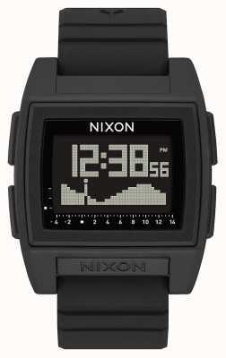Nixon Base tij pro | zwart | digitaal | zwarte siliconen band | A1307-000-00