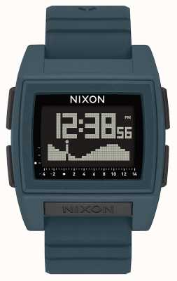 Nixon Base tij pro | donkere leisteen | digitaal | leisteenkleurige siliconen band A1307-2889-00