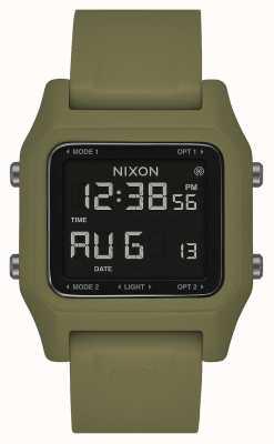 Nixon Nietje | olijf | digitaal | olijfgroene siliconen band A1309-333-00