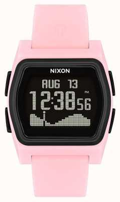 Nixon Rivaal | roze / zwart | digitaal | roze siliconen band A1236-2531-00