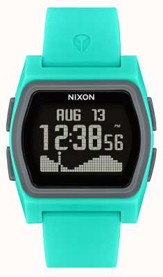 Nixon Rivaal | turkoois | digitaal | turquoise siliconen band A1236-309-00