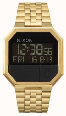 Nixon Herhaal | alle goud | digitaal | gouden ip stalen armband A158-502-00