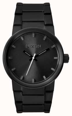 Nixon Kanon | helemaal zwart | zwarte ip stalen armband | zwarte wijzerplaat A160-001-00