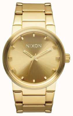 Nixon Kanon | alle goud | gouden ip stalen armband | gouden wijzerplaat A160-502-00
