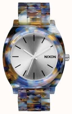 Nixon Time teller acetaat | aquarel acetaat | zilveren wijzerplaat A327-1116-00