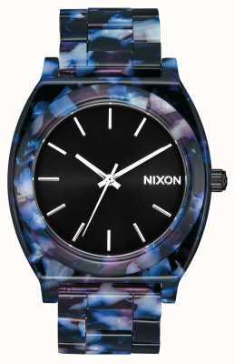Nixon Time teller acetaat | zwart / multi | zwarte wijzerplaat A327-2336-00
