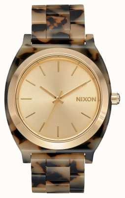 Nixon Time teller acetaat | crème schildpad | crème wijzerplaat A327-3346-00