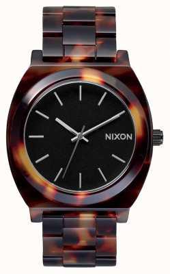 Nixon Time teller acetaat | schildpad | zwarte wijzerplaat A327-646-00