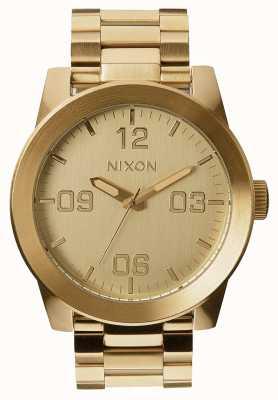 Nixon Korporaal ss | alle goud | gouden ip stalen armband | gouden wijzerplaat A346-502-00