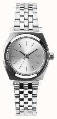Nixon Kleine tijdteller | geheel zilver | roestvrijstalen armband zilveren wijzerplaat A399-1920-00