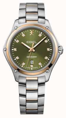 EBEL Ontdekking van vrouwen | zilveren roestvrijstalen armband | groene wijzerplaat | 1216424