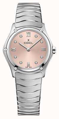 EBEL Sportklassieker voor dames | roestvrijstalen armband | roze galvanische wijzerplaat 1216444A