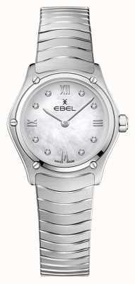 EBEL Sportklassieker voor dames | roestvrijstalen armband | zilveren diamanten wijzerplaat 1216474A