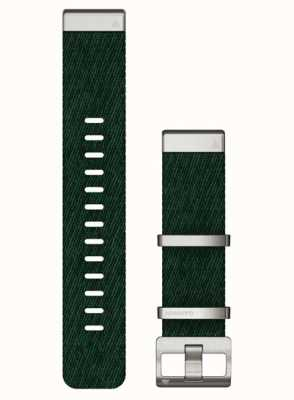 Garmin Quickfit 22 jacquardgeweven nylon groene band 010-13008-00