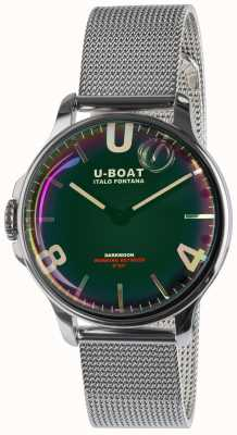 U-Boat Darkmoon 38mm zwarte roestvrijstalen metalen armband 8471/MT