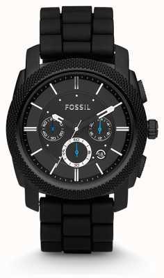 Fossil Gents zwarte chronograaf band horloge FS4487