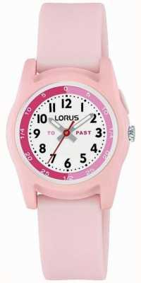 Lorus kindertijdleraar met roze siliconen band R2357NX9