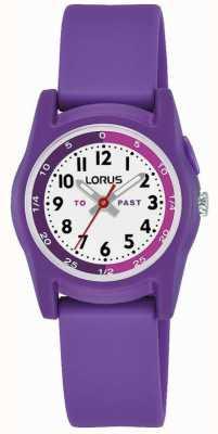 Lorus kindertijdleraar met paarse siliconen band R2359NX9