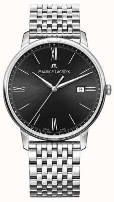Maurice Lacroix Eliros voor heren | roestvrijstalen armband | zwarte wijzerplaat EL1118-SS002-310-2