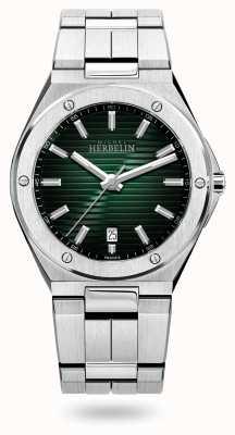 Michel Herbelin Dop camarat kwarts | roestvrijstalen armband | groene wijzerplaat 12245/B16