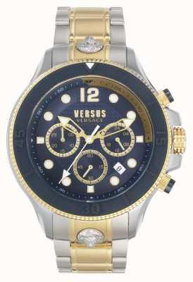 Versus Versace Heren volta versus | tweekleurige stalen armband | blauwe wijzerplaat VSPVV0520