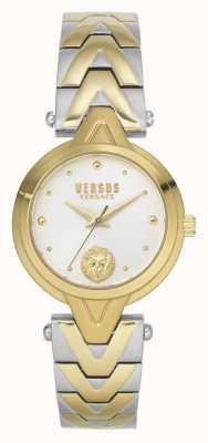 Versus Versace Dames v_versus forlanini | tweekleurige stalen armband | zilveren wijzerplaat VSPVN1020